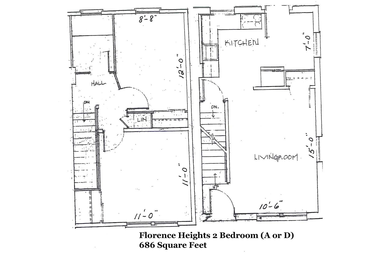 Florence Heights 3 Bedroom layout