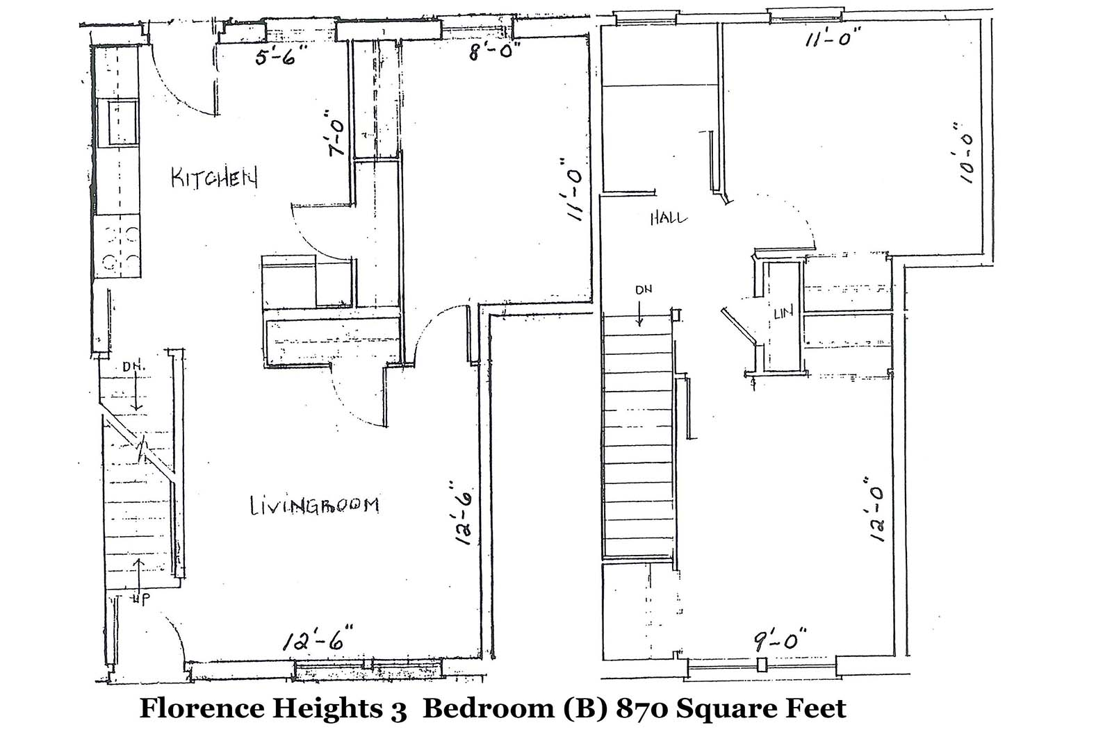 Florence Heights 3 BR layout