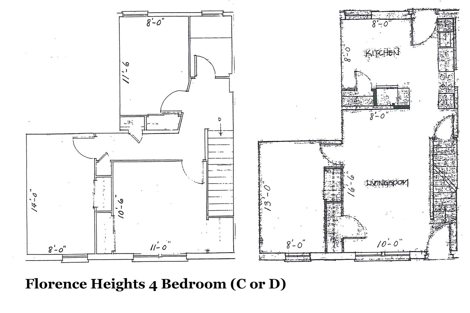 Florence Heights 4 bedroom layout