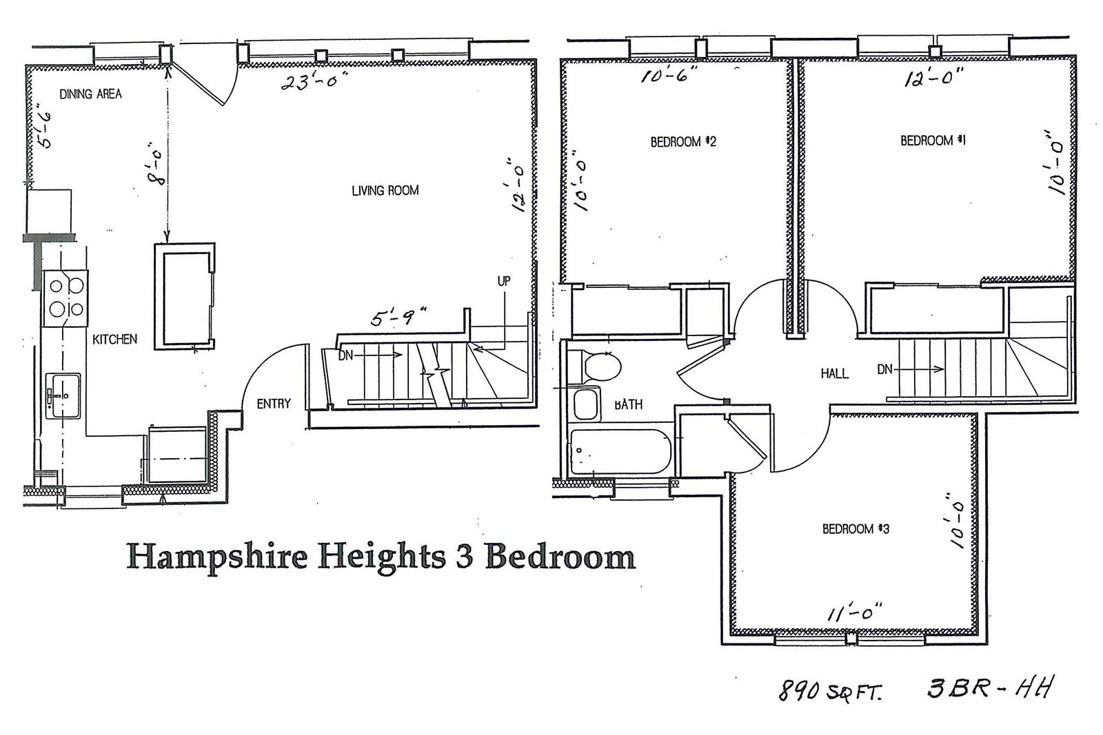 hampshire heights 3 br