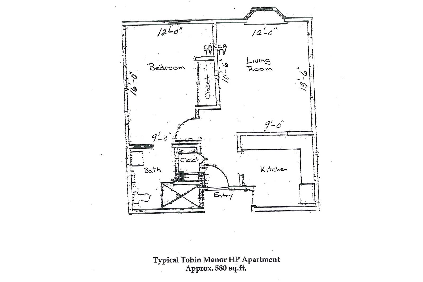 Tobin Manor 1 bR layout