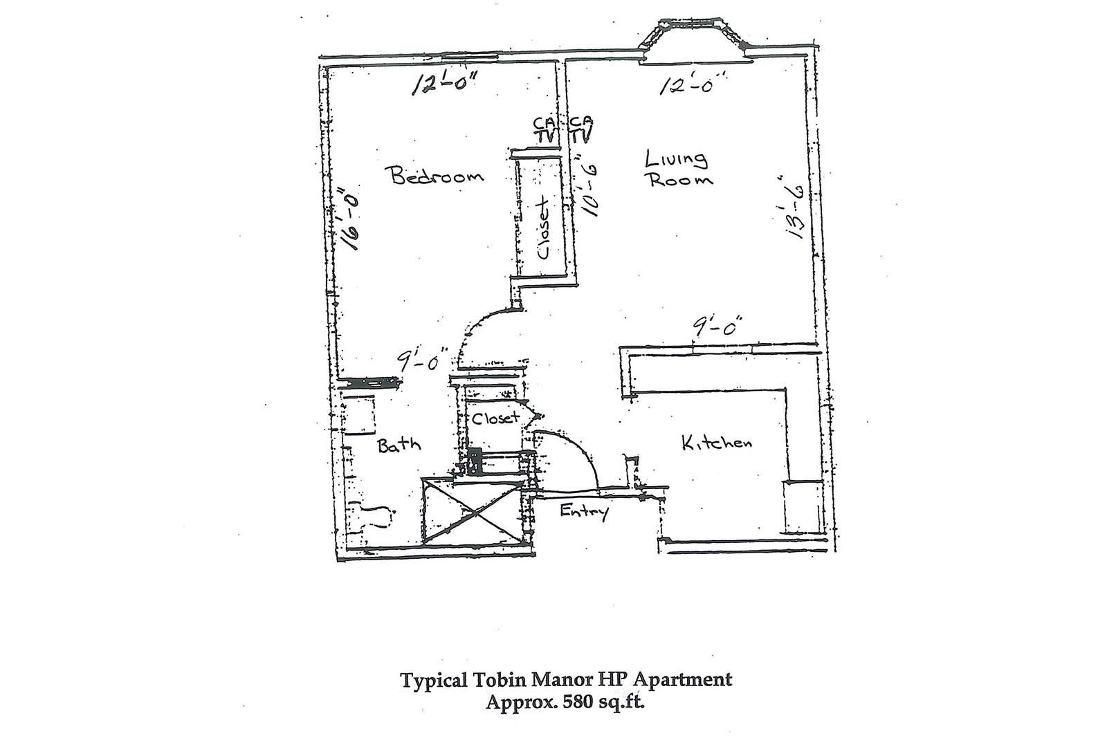 Tobin Manor 1 bR layout